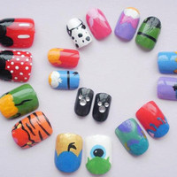 False Nails Disney choose your characters by KatiesNails on Etsy
