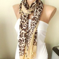 Leopard design with lace scarf | moonfairy - Accessories on ArtFire