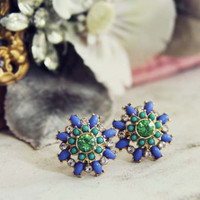 Sweet &amp; Dreamy Earrings in Blue, Sweet Bohemian Jewelry