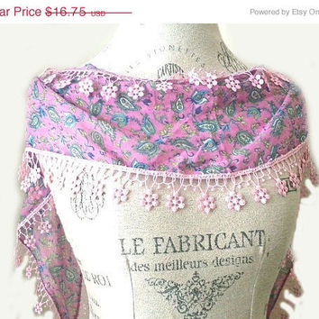 ON SALE Pink Lilac Green Turquoise Floral Women by SistersLace