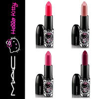 NEW MAC Hello Kitty Lustre Lipstick Big Bow, Most Popular, Cute-ster, Strayin'