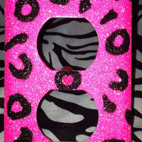 Hot Pink Cheetah Print Outlet Cover