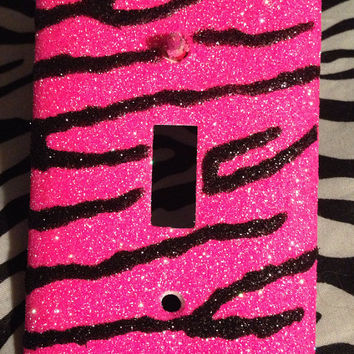 Zebra Print Outlet or Light Switch Cover