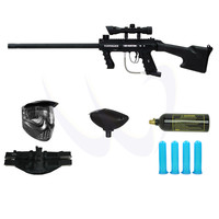 Tippmann 98 Custom PS Ultra Basic Paintball Gun M18W-432 SWAT Package - Paintball Store WaveToGo