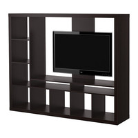 EXPEDIT TV storage unit, black-brown
