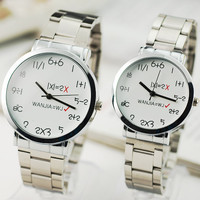 Geek Match Steel Wrist Watch
