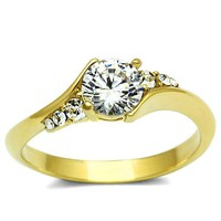 Ion Gold Plated Cubic Zirconia Ring - 06599