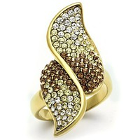 Ion Gold Plated Crystal Ring - 06582