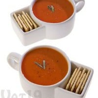 Soup &amp; Cracker Mugs (set of 2)