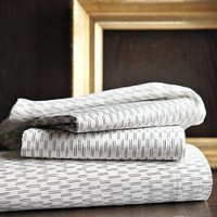 Organic Ikat-Stripe Sheet Set | west elm