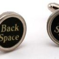 Vintage Typewriter Key Cufflinks