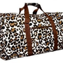 Brown Animal Print Duffle Carrying Bag 21&amp;quot; Large: Clothing