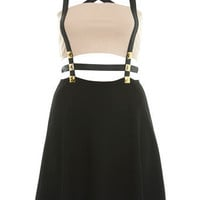Petites Contrast Stud Dress - Dresses  - Clothing  - Miss Selfridge
