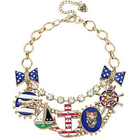 Betsey Johnson Anchor Multi-Charm Frontal Necklace | Dillards.com