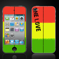 One Love Reggae  Apple iPod Touch 4 4th Gen Vinyl by ItsASkin