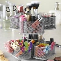 Nifty Cosmetic Organizing Carousel, Black: Beauty