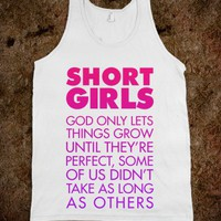 Short Girls (Tank) - Text Based Humor - Skreened T-shirts, Organic Shirts, Hoodies, Kids Tees, Baby One-Pieces and Tote Bags