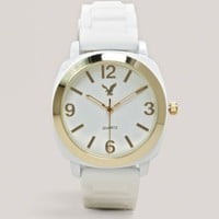 AEO White Rubber Watch | American Eagle Outfitters
