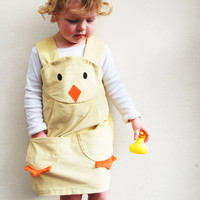 Spring Baby Girls Dress  Easter Chick  by wildthingsdresses