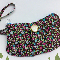 Retro Candy Pleated Wristlet Zipper Purse