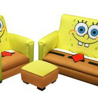 Amazon.com: Nickelodeon Deluxe Toddler Sofa, Chair and Ottoman Set, Sponge Bob: Baby