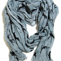 Crinkle Bird Scarf in Blue - &amp;#36;14.99 : Spotted Moth, Chic and sweet clothing and accessories for women