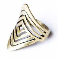 Brandy ♥ Melville |  Spiral Squares Ring - Jewelry - Accessories