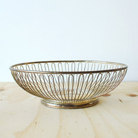 Vintage Silverplated Basket Silver Pedestal Bread Basket