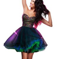 Amazon.com: Short, Baby Doll Dress 11358 by Tony Bowls: Clothing