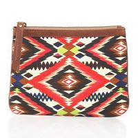 CUSP |  Apparel | Neon  | Tribal-Print Canvas Pouch (Cusp Top Seller!)