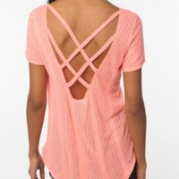 UrbanOutfitters.com &gt; Daydreamer LA Ribbed Knit Cross-Back Tee