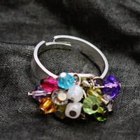 Swarovski Beaded Adjustable Ring