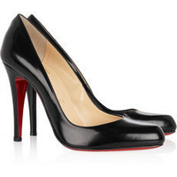 CHRISTIAN LOUBOUTIN Dcollet 100 glossed-leather pumps