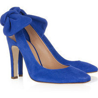 CARVEN Suede slingbacks