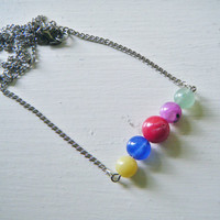 Horizontal Multicolor Beaded Necklace