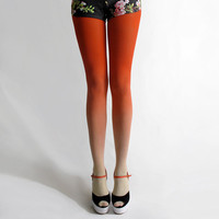 $45.00 Ombre tights in Sunset by BZRshop on Etsy