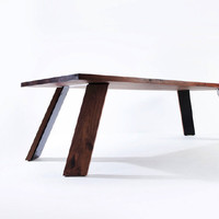 Provide - Collections - Furniture by CHRISTIAN WOO - Angled steel based dining table