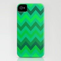 Chevron under the Sea iPhone Case by Romi Vega