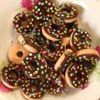 6pcs Donut Colored Sprinkler Collection - Chocolate on Luulla