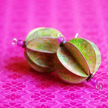 Garden Party Paper Lantern Earrings by BoutiqueVintage72 on Etsy