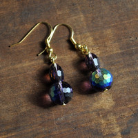 Purple Amethyst Crystal Dangle Earring by TatumBradleyCo on Etsy