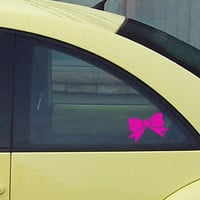 Bow Car Window Sticker Vinyl Car graphic Decal by StickyMyHome