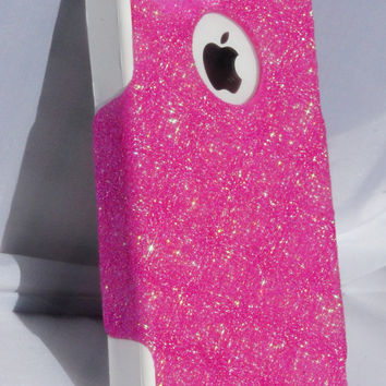 Otterbox iPhone 4/4s Case Cute Sparkly Glitter Commuter Series Bubblegum Pink/White