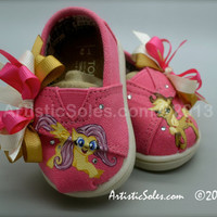My Little Pony Themed Custom TOMS Shoes  Tiny by ArtisticSoles
