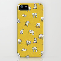 indian baby elephants iPhone Case by Estelle F