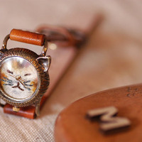 Vintage Watch Handmade Leather Band ///////// by metaletlinnen