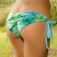 Scrunch Bum Side Tie Bottoms- Ocean Tie Dye