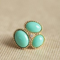 little treasures ring in mint at ShopRuche.com