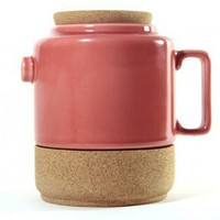 Cork Whistler Red Tea Pot