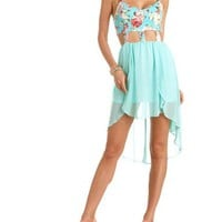 Caged-Waist Aloha Dress: Charlotte Russe